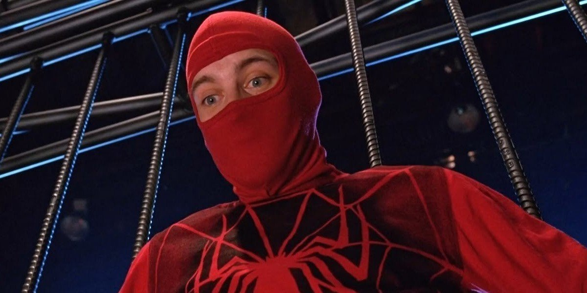 Tobey Maguire as Peter Parker in Spider-Man (2002)