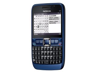 The Nokia E63 in lovely blue