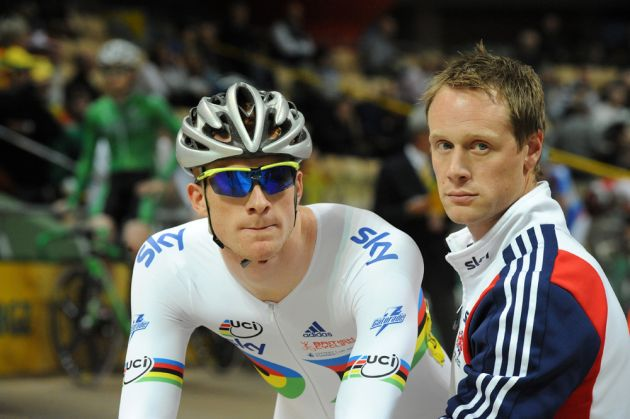 Ed Clancy and Dan Hunt, European Track Championships 2010, day two