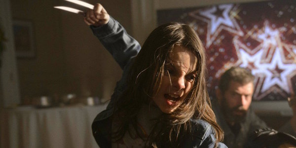 Laura slashing an enemy in Logan