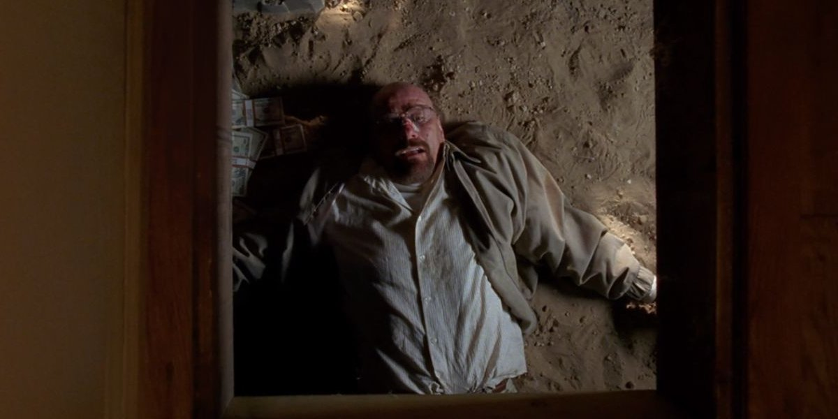 Bryan Cranston in the crawl space on Breaking Bad