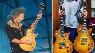 "Kirk Hammett plays the legendary ""Greeny"" Les Paul"