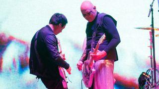 [L-R] Jeff Schroeder and Billy Corgan