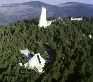 Sunspot Solar Observatory Seen From Above