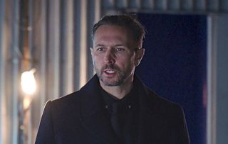 Holby City Fletch Theo kidnapped