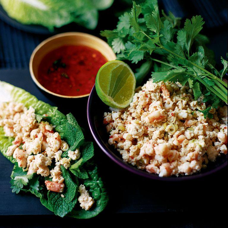 Vietnamese Lemongrass, Chicken and Prawn Wraps recipe-recipe ideas-new recipes-woman and home