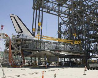 Space Shuttle Atlantis May Begin Trek Home on Sunday