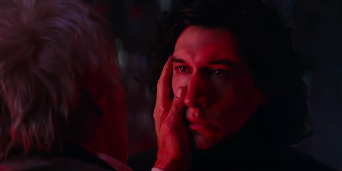 Han Solo touching his son's face