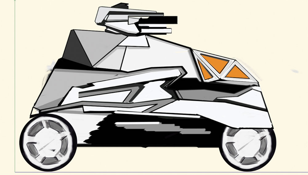 rough sketch of a vehicle