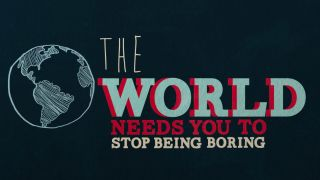 The world needs you to stop being boring Kid President kinetic typography video still
