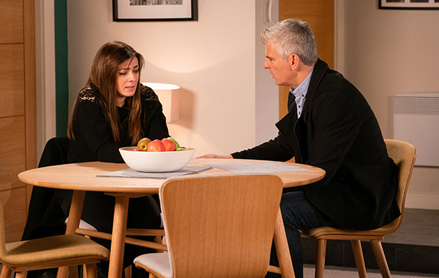 Michelle Connor tells Robert she thinks she might be pregnant.