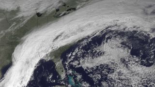 Stalled cold front over the Eastern United States