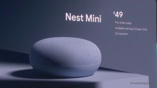 Google Nest Mini boasts twice the bass and wall-mount option