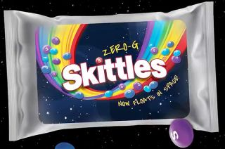 Mars, Incorporated has announced Zero-G Skittles, a new limited edition variety of the chewy fruit-flavored candies, in celebration of its recent flight with Jeff Bezos into space.