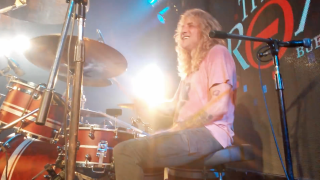 A picture of Steven Adler performing with Son Of A Gun