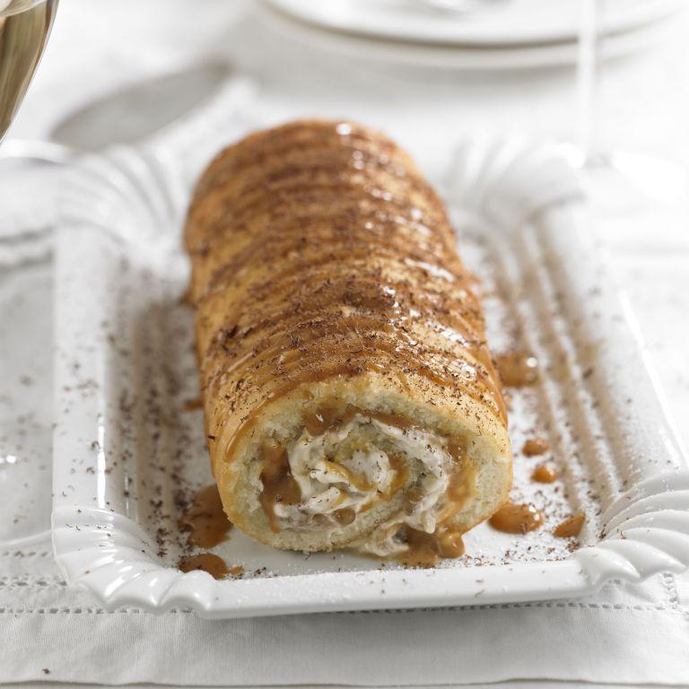 Banoffee swiss roll recipe-cake recipes-recipe ideas-new recipes-woman and home