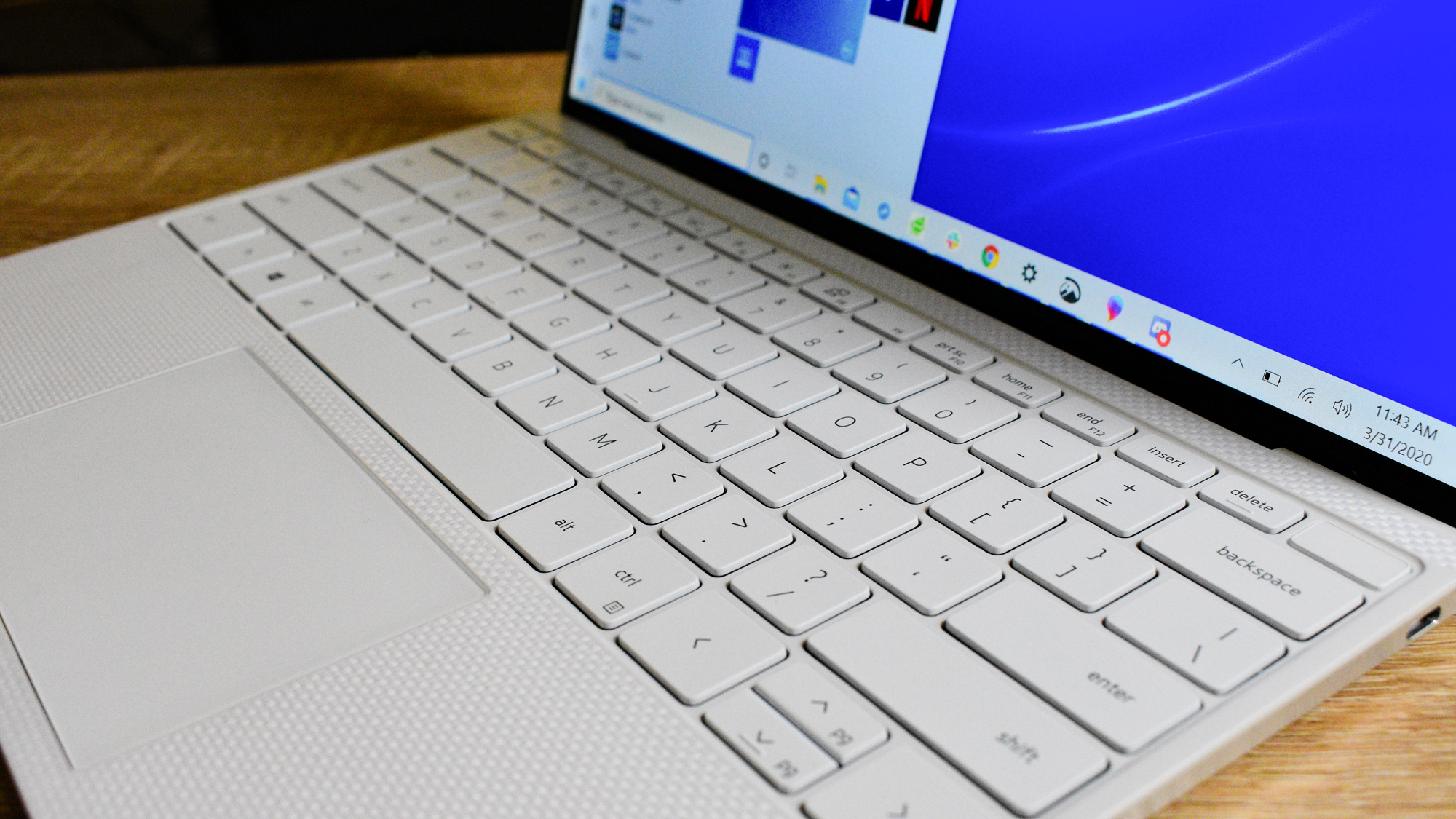 The Dell XPS 13 (2020)'s comfortable keyboard
