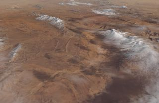 On Jan. 8, 2018, data from the Operational Land Imager on the Landsat 8 satellite caught this view of 4 to 12 inches (10 to 30 centimeters) of snow that accumulated on higher elevations of the Sahara Desert near the northern Algerian town Aïn Séfra.