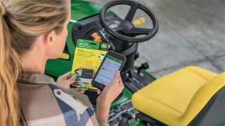 John Deere autonomous lawn tractor