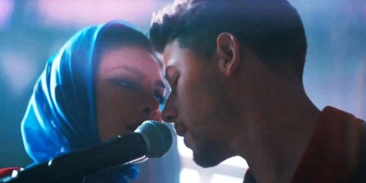 Priyanka Chopra Jonas and Nick Jonas in the video for Sucker