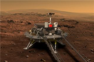 Artist's illustration of China's first Mars rover.