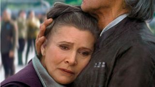 Carrie Fisher, who will appear in Star Wars 9 using The Force Awakens footage