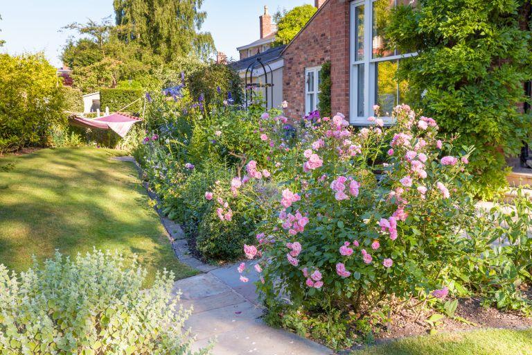 Secluded courtyard garden