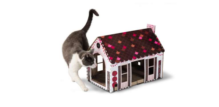 Valentine's Day cat house