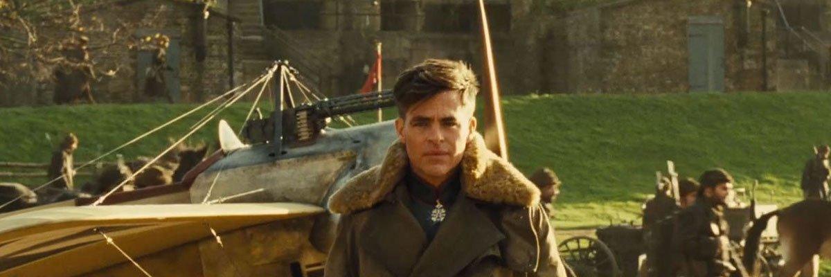 Steve Trevor from Wonder Woman exiting a plane.