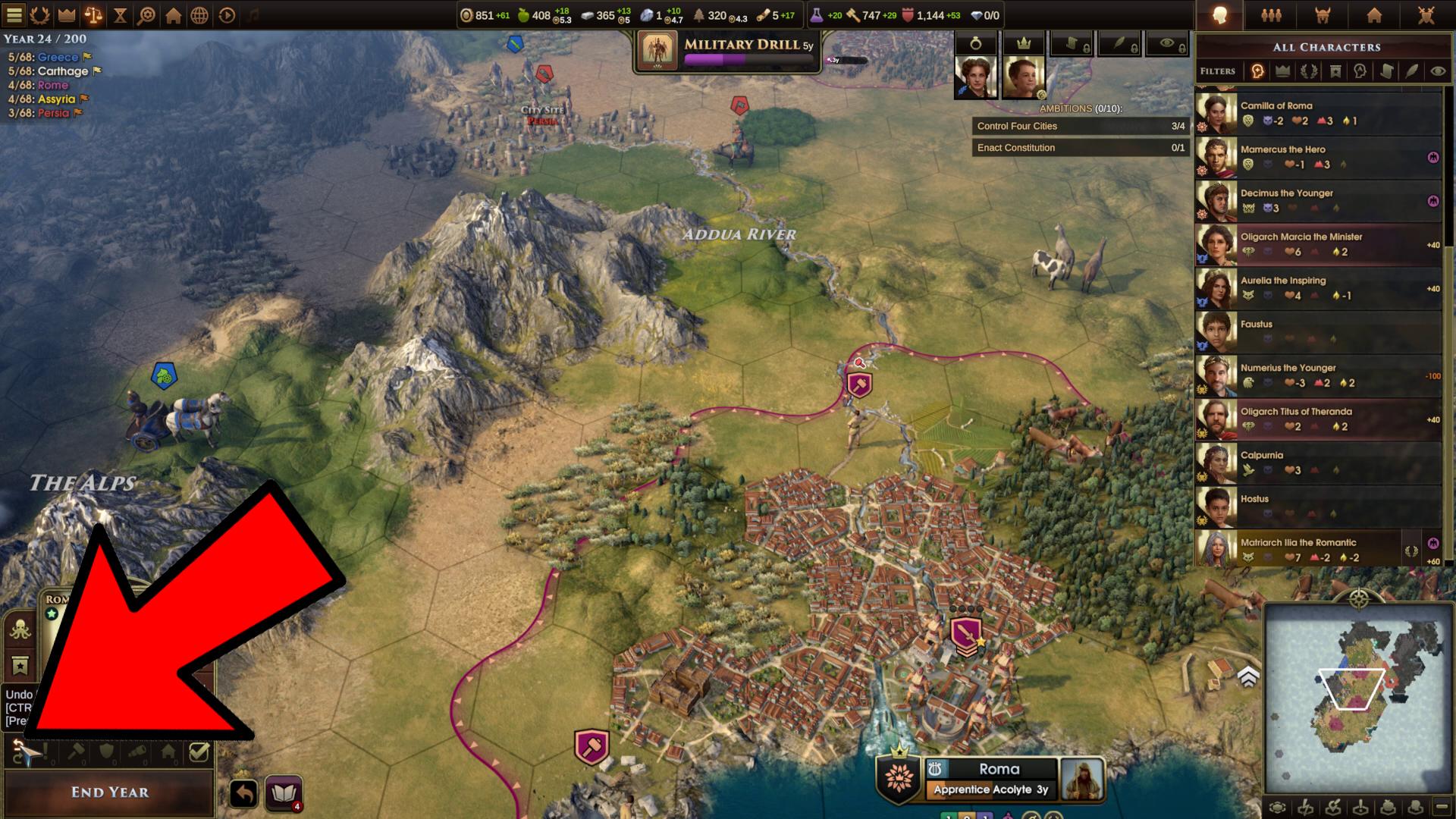 old world guide - undo moves