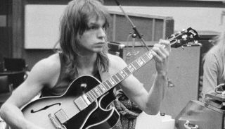 Steve Howe (left) and Rick Wakeman recording Yes' 'Fragile' LP at Advision Studios in London, August 20, 1971