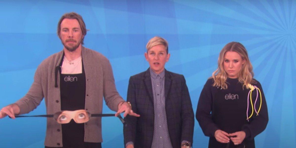 Dax Shepard, Ellen DeGeneres and Kristen Bell on The Ellen DeGeneres