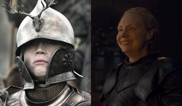 Game of Thrones Brienne of Tarth Then and Now