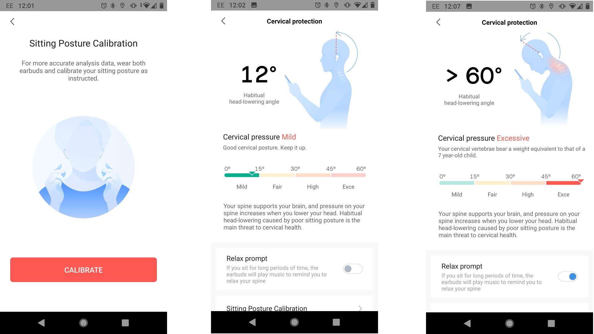 Amazfits Powerbuds Pro posture correction in Zepp app
