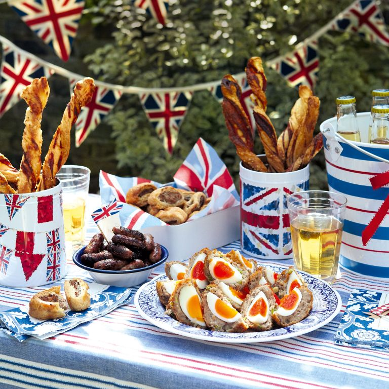 Scotch eggs-cheese straws-honey sausages-sausage rolls-Jubilee-Woman and home
