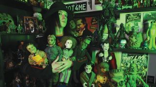 Wednesday 13 with his toy collection