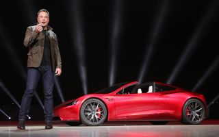 Elon Musk and Roadster