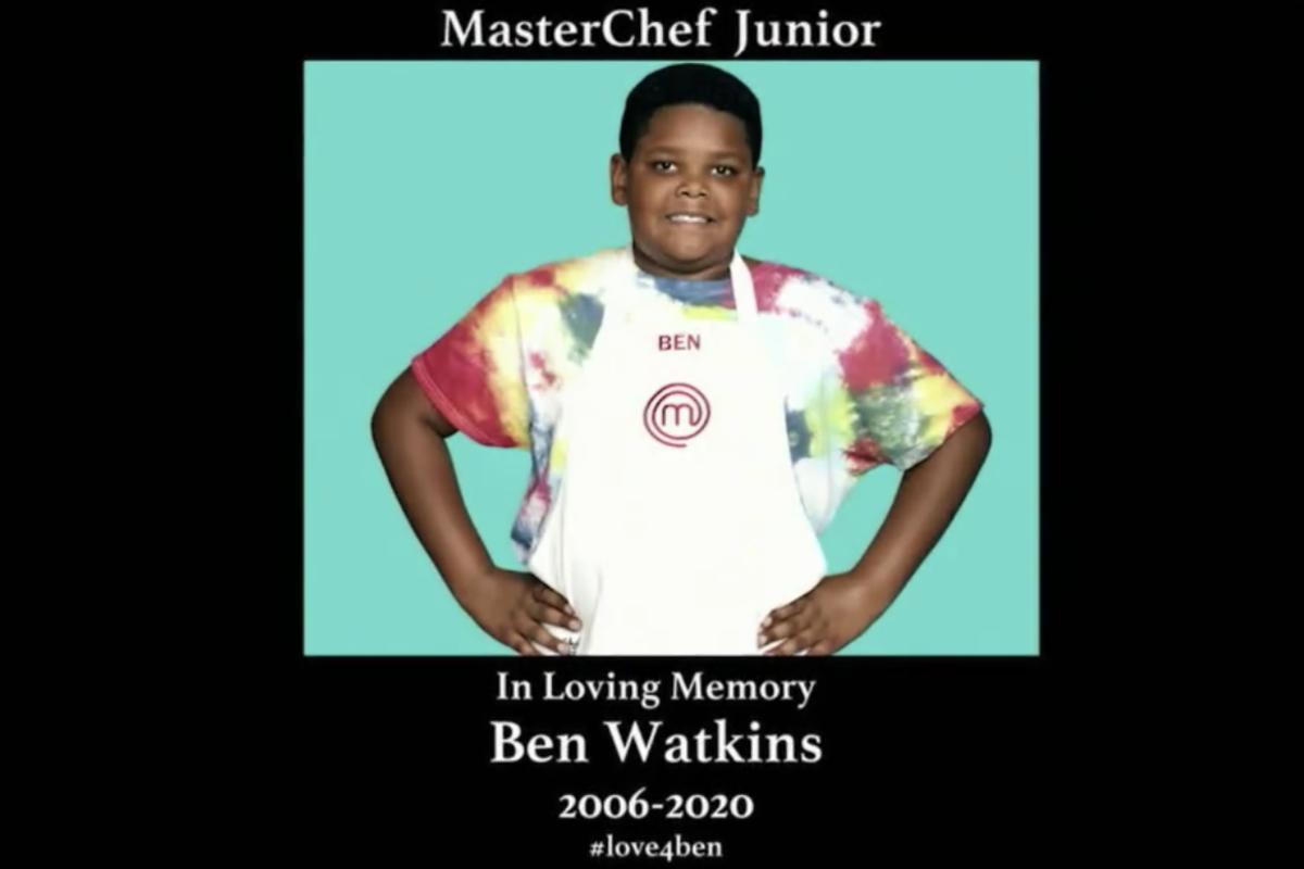 masterchef legends season 11 premiere ben watkins in loving memory screenshot