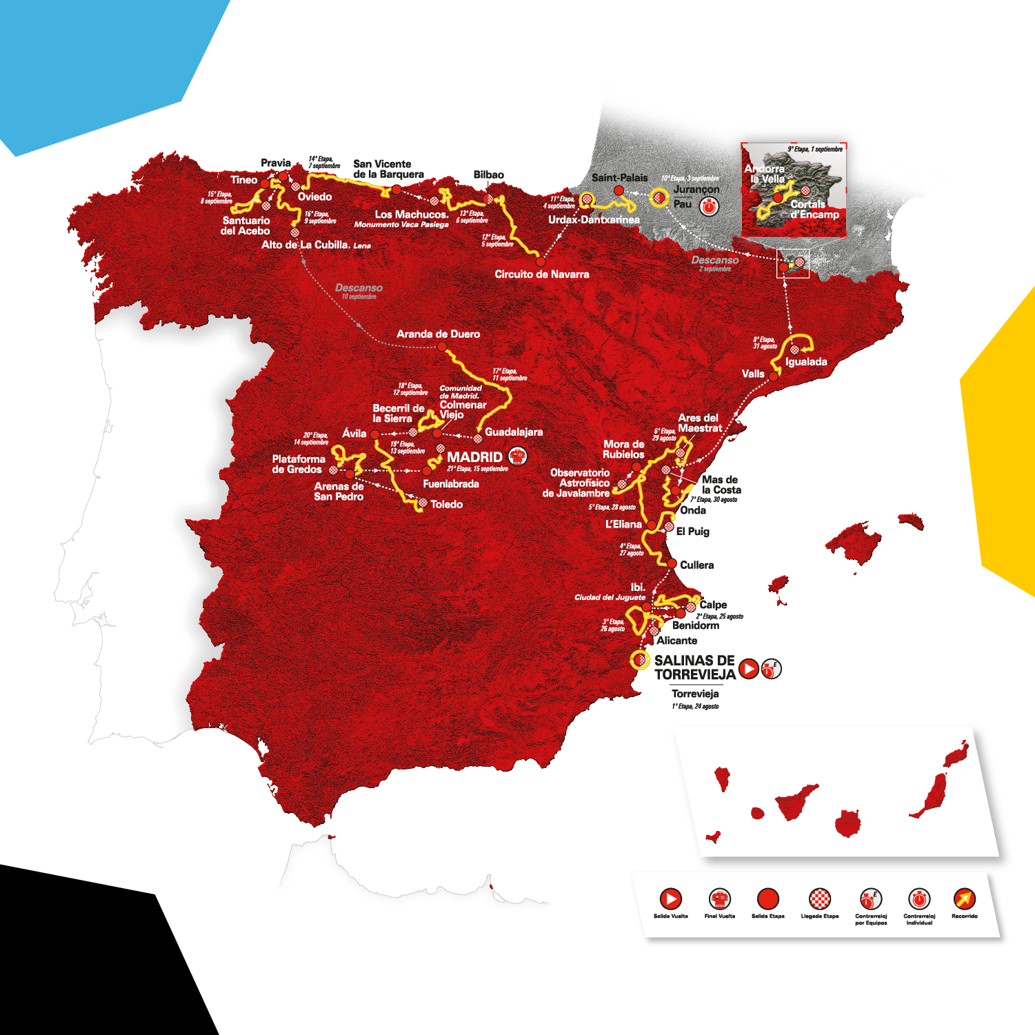 Map Of France Key Stage 2.Vuelta A Espana 2019 Route All You Need To Know About The Route For
