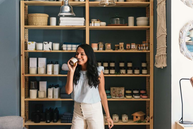 best home fragrances on display for woman to test