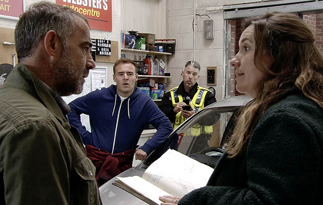 Coronation Street spoilers: The police question Kevin Webster at the garage