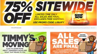 Last chance to embrace ThinkGeek and its 75% off sale before it stops online trading tomorrow