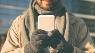 Men Women Knit Touchscreen Gloves Winter Warm Wool Lining Full Finger Handwear Anti-slip Texting Cycling Driving Gloves