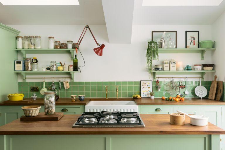 How to design a small kitchen floorplan deVOL green kitchen