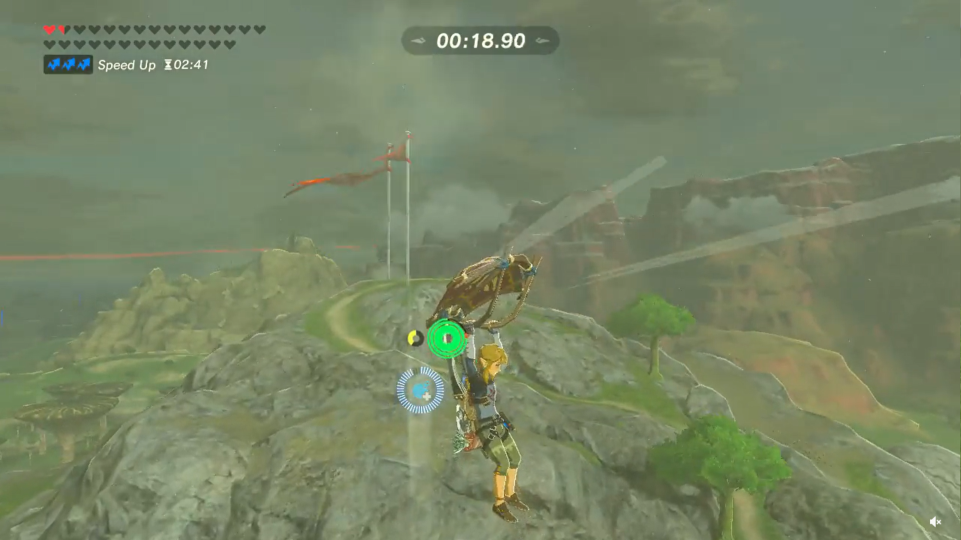 Breath of the Wild Mount Rhoam footrace completed in 23 seconds using clever bomb hack