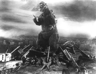 Godzilla from the original film in 1954.