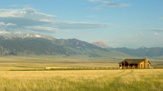 A rural ranch in Montana