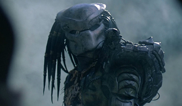 The Predator with his mask on
