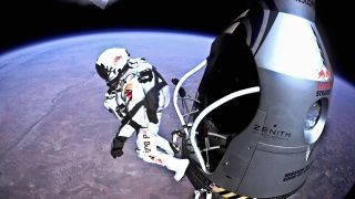 Felix Baumgartner Jumps Out of Red Bull Stratos