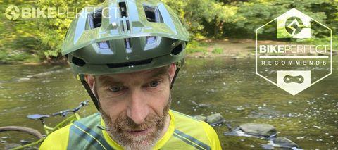 Scott Stego Plus helmet in action on the trail